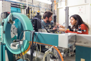 Young researchers on a beamline at ESRF